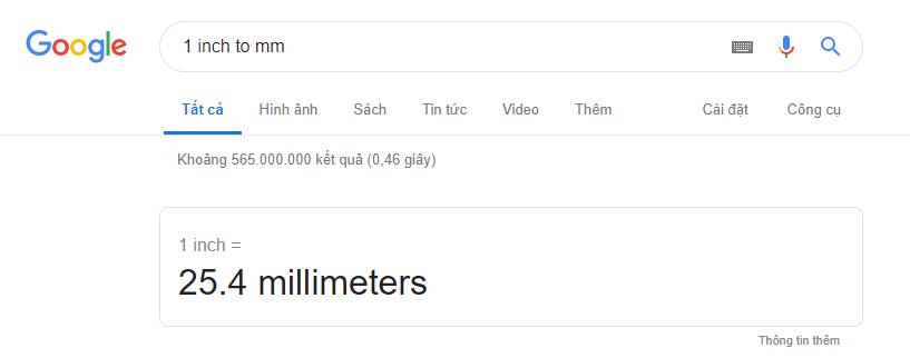 Inch là gì? 1 inch bằng bao nhiêu cm mm