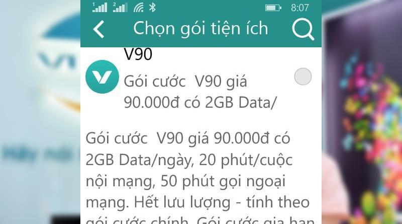 Đăng ký gói cước V90 Viettel nhận 60Gb data chỉ 90.000đ 1 tháng
