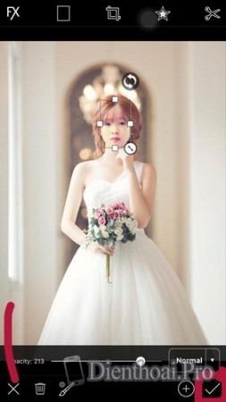 Cách ghép ảnh cô dâu bằng PicsArt trên điện thoại iPhone, Android