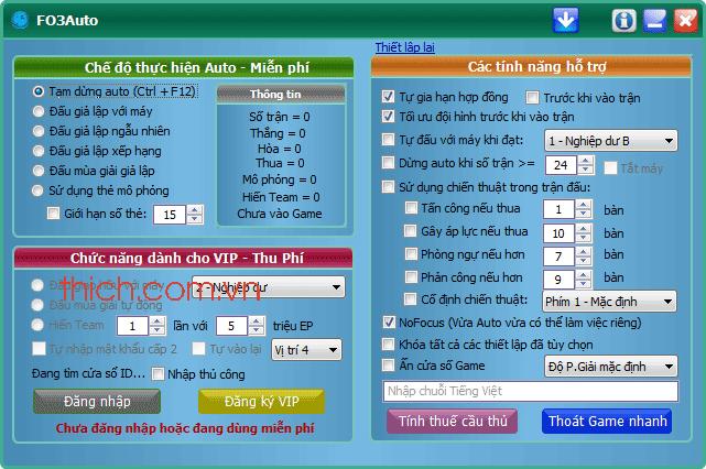 Tool Auto Fifa online 3 – FOT FO3 uy tín nhất Update liên tục, auto fifa VN9S