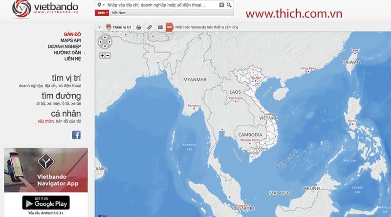 Vietbando : Bản đồ tìm đường dành cho người Việt