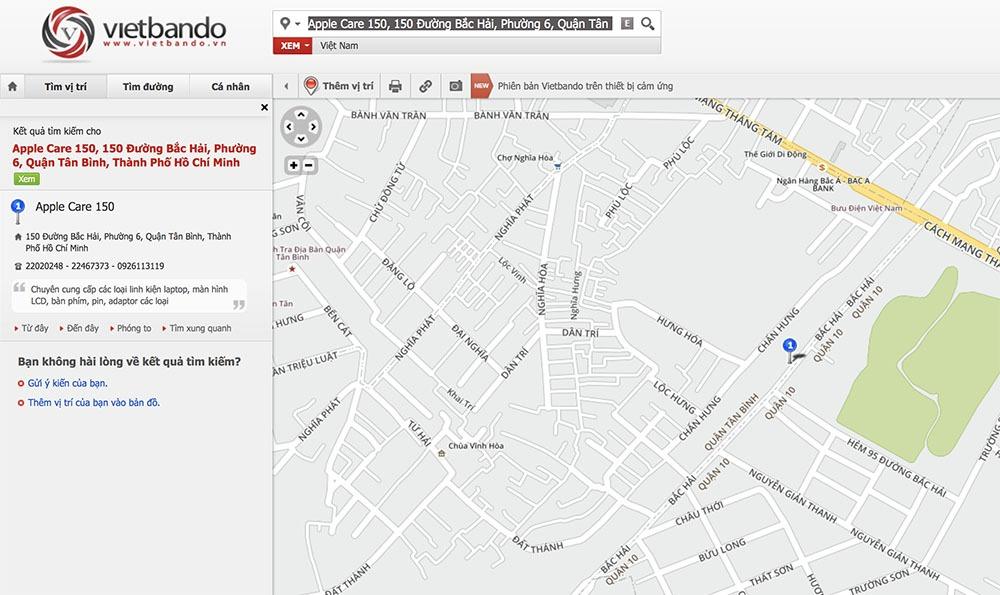 Vietbando: Công cụ Google Maps của người Việt