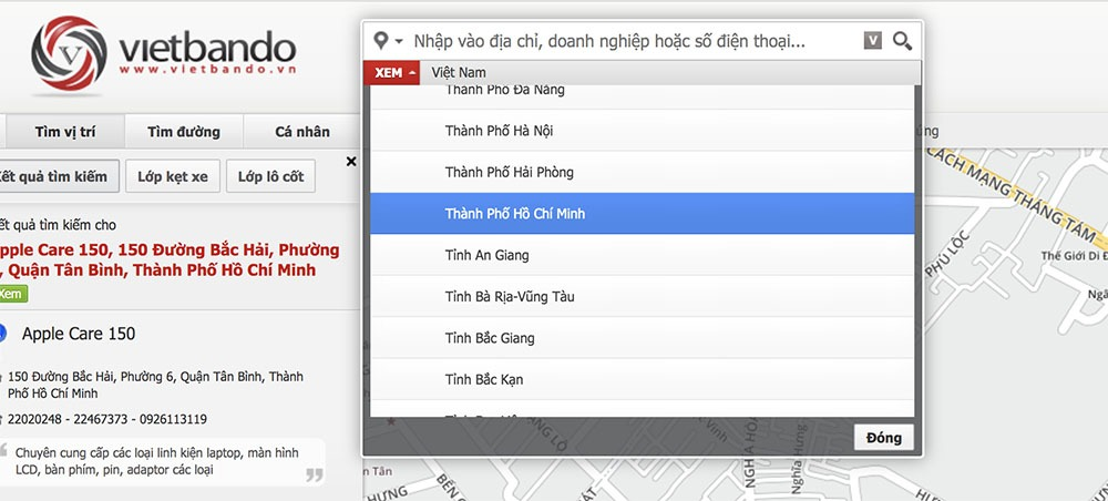 Vietbando : Bản đồ tìm đường dành cho người ViệtVietbando : Bản đồ tìm đường dành cho người Việt