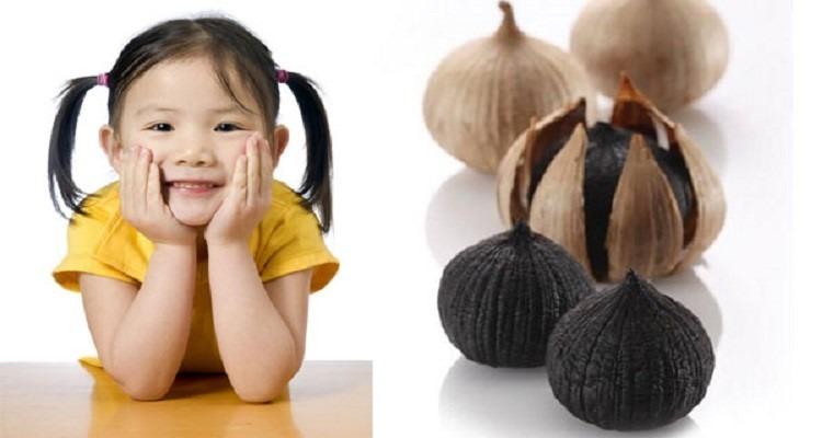 Tỏi đen giúp tăng cường sức đề kháng ở trẻ nhỏ.