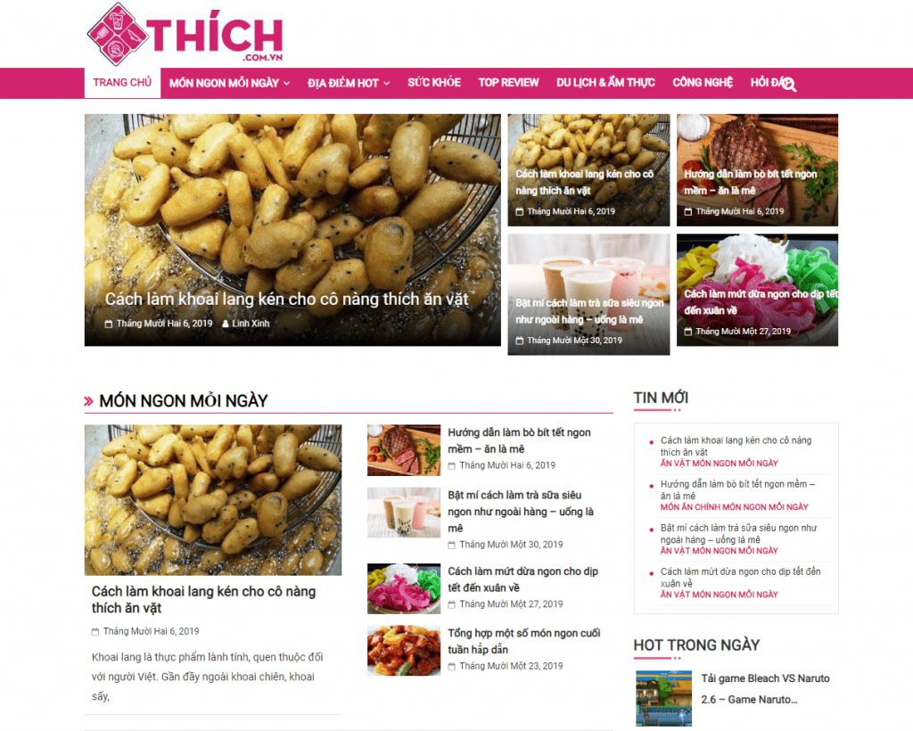 Giới thiệu về website thichcomvn tầm nhìn, sứ mệnh